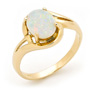 Opal Jewellery 14k Yellow Gold Solid Light Opal Ring, opal jewellery