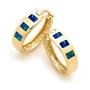 Opal Jewellery 14k Yellow Gold Solid Inlay Opal Earring, opal jewellery