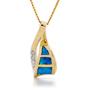 Opal Jewellery 14k Yellow Gold Solid Inlay Opal Pendant, opal jewellery