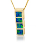 Opal Jewelry 14k Yellow Gold Solid Inlay Opal Pendant, opal jewellery
