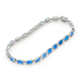 Opal Jewelry 14k White Gold Solid Light Opal Bracelet, opal jewellery