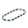 Opal Jewelry 14k White Gold Light Opal Doublet Bracelet, opal jewellery