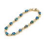 Opal Jewelry 14k Yellow Gold Light Opal Doublet Bracelet, opal jewellery