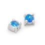 Opal Jewellery 18k White Gold Solid Light Opal Earring, opal jewellery
