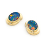 Opal Jewelry 14k Yellow Gold Light Opal Doublet Earring, opal jewellery