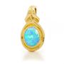 Opal Jewelry 18k Yellow Gold Solid Light Opal Pendant, opal jewellery