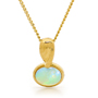 Opal Jewellery 18k Yellow Gold Solid Light Opal Pendant, opal jewellery