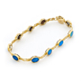 Opal Jewellery 14k Yellow Gold Light Opal Doublet Bracelet, opal jewellery