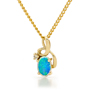 Opal Jewelry 14k Yellow Gold Solid Light Opal Pendant, opal jewellery