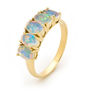 Opal Jewelry 18k Yellow Gold Solid Light Opal Ring, opal jewellery