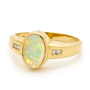 Opal Jewellery 18k Yellow Gold Solid Light Opal Ring, opal jewellery