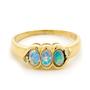 Opal Jewelry 18k Yellow Gold Solid Light Opal Ring, opal jewellery