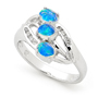Opal Jewellery 18k White Gold Solid Light Opal Ring, opal jewellery