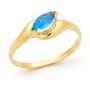 Opal Jewellery 14k Yellow Gold Solid Light Opal Ring, opal jewellery
