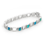 Opal Jewelry Sterling Silver Solid Inlay Opal Bracelet, opal jewellery