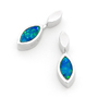 Opal Jewelry Sterling Silver Solid Inlay Opal Earring, opal jewellery