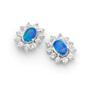 Opal Jewellery Sterling Silver Solid Light Opal Earring, opal jewellery