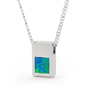 Opal Jewelry Sterling Silver Solid Inlay Opal Pendant, opal jewellery