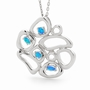 Opal Jewellery Sterling Silver Solid Light Opal Pendant, opal jewellery