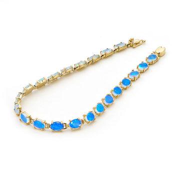 Opal Jewellery 14k Yellow Gold Solid Light Bracelet