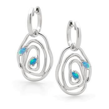 Opal Jewellery Sterling Silver Solid Light Opal Earring, opal jewellery