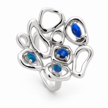 Opal Jewellery Sterling Silver Solid Light Opal Ring, opal jewellery