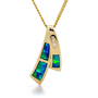 Opal Jewellery 14k Yellow Gold Solid Inlay Opal Pendant, opal jewellery