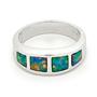 Opal Jewellery 14k White Gold Light Opal Doublet Ring, opal jewellery