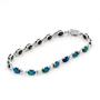 Opal Jewellery 14k White Gold Light Opal Doublet Bracelet, opal jewellery