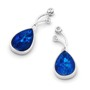 Opal Jewellery 14k White Gold Light Opal Doublet Earring , opal jewellery