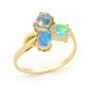 Opal Jewellery 18k Yellow Gold Solid Light Opal Ring, opal jewellery