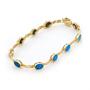 Opal Jewellery 14k Yellow Gold Light Opal Doublet Bracelet, opal jewellery