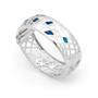 Opal Jewellery Sterling Silver Solid Inlay Opal Bangle, opal jewellery