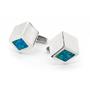 Opal Jewellery Sterling Silver Solid Inlay Opal Cuff Link, opal jewellery
