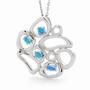 Opal Jewellery Sterling Silver Solid Light Opal Pendant, opal jewellery